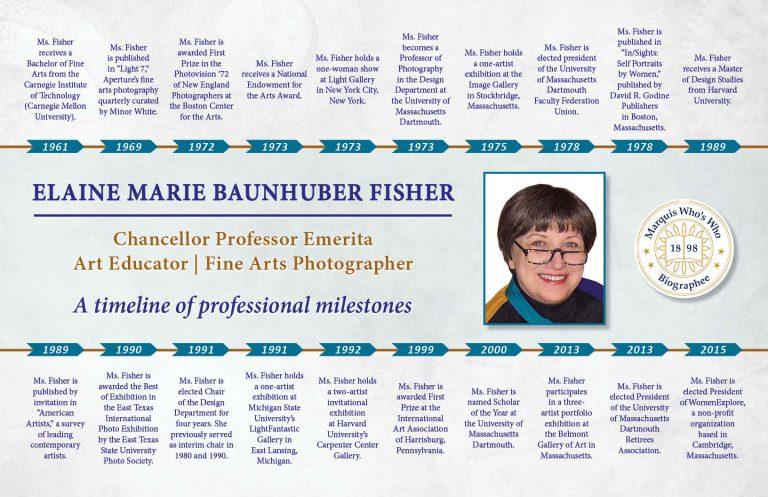 Elaine Fisher Professional Milestones