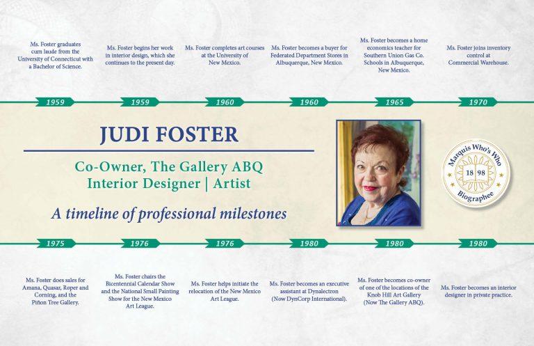 Judi Foster Professional Timeline