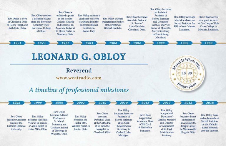 Leonard Obloy Professional Timeline