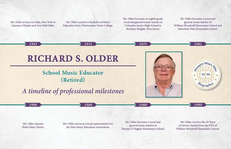 Richard Older Professional Timeline