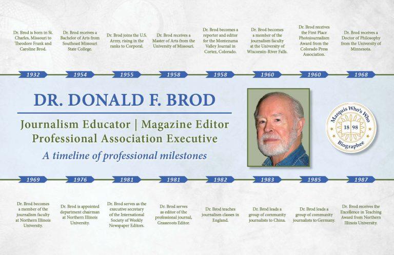Donald Brod Professional Milestones