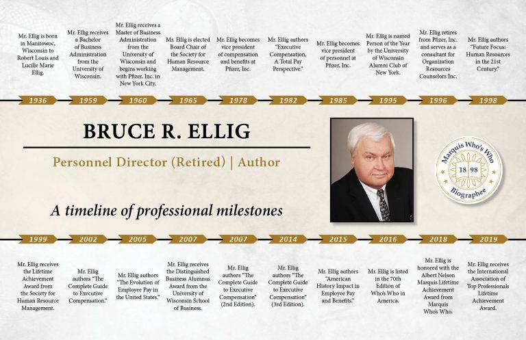Bruce Ellig Professional Milestones