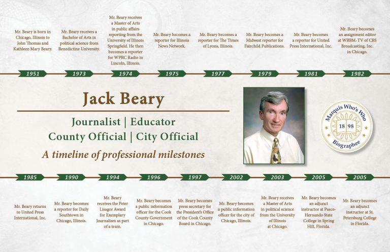 Jack Beary Professional Milestones