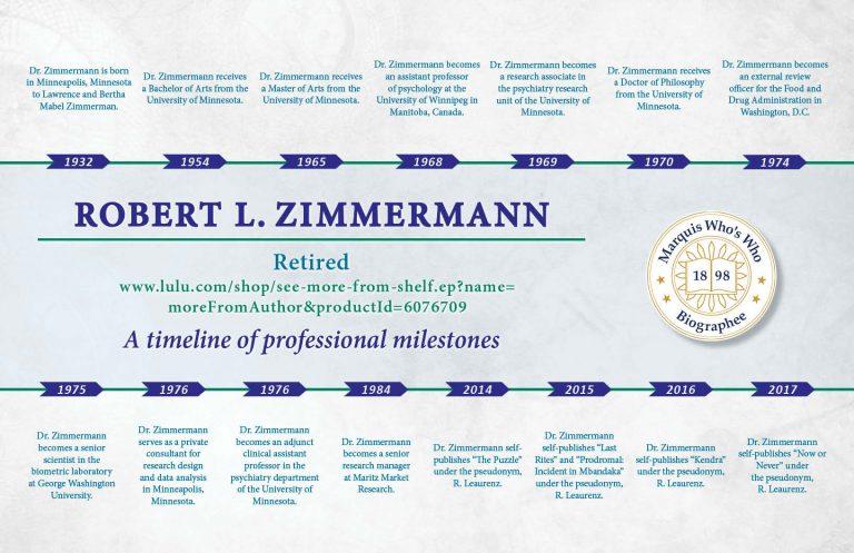 Robert Zimmermann Professional Milestones