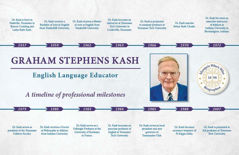 Graham Kash Professional Milestones