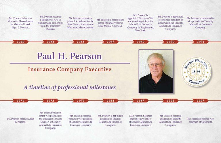 Paul Pearson Professional Milestones
