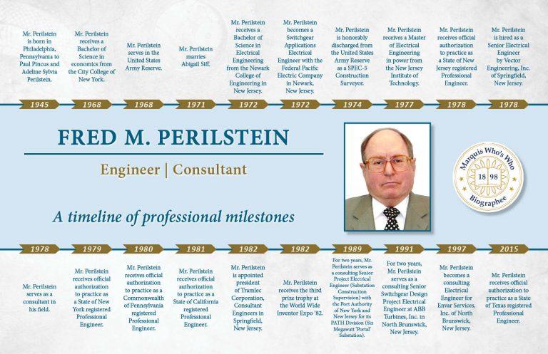 Fred Perilstein Professional Milestones