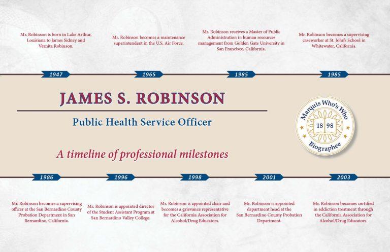 James Robinson Professional Milestones