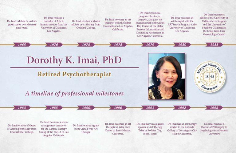 Dorothy Imai Professional Milestones