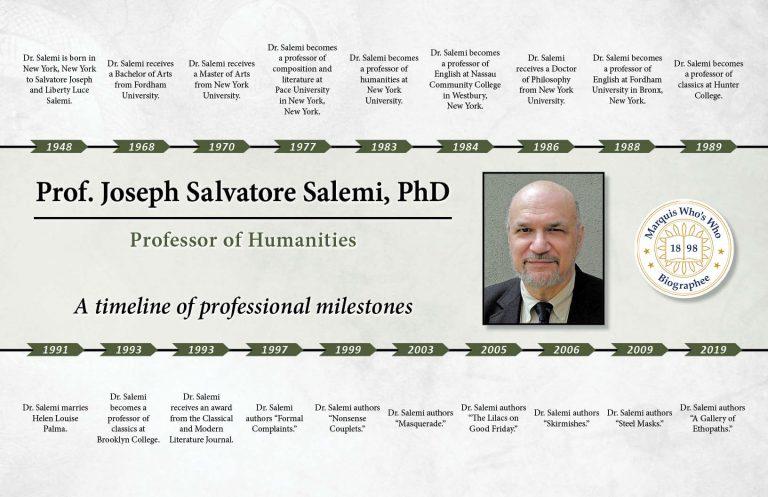 Joseph Salemi Professional Milestones