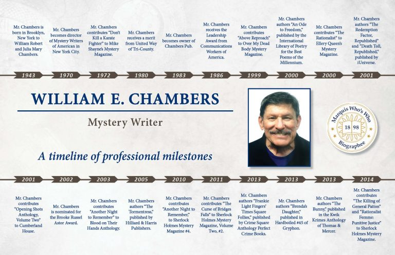 William Chambers Professional Milestones