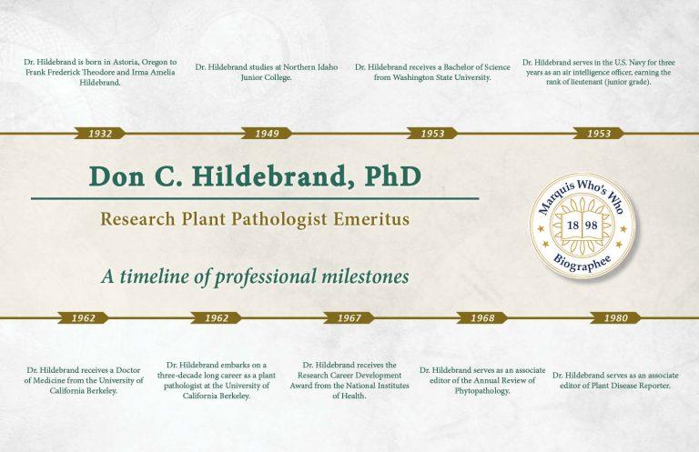 Don Hildebrand Professional Milestones