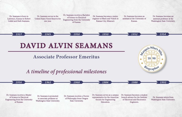 David Seamans Professional Milestones