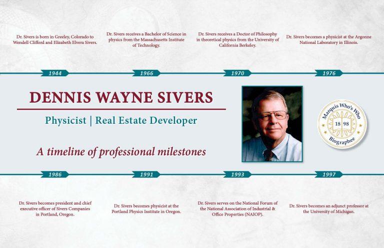 Dennis Sivers Professional Milestones