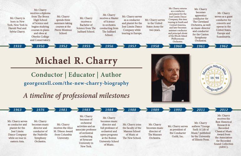 Michael Charry Professional Milestones